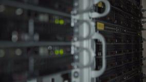 Primo piano dell'hardware del server stock footage