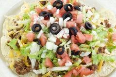 Primo piano dell'insalata del Taco Fotografia Stock