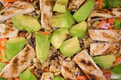 Primo piano dell'insalata dell'avocado del pollo Immagini Stock Libere da Diritti