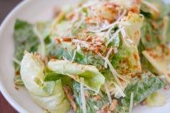 Primo piano dell'insalata di Caesar Immagini Stock