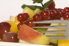 Primo piano dell'insalata di frutta Immagini Stock Libere da Diritti