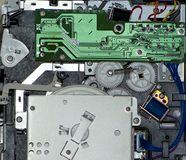 Primo piano dell'interiore elettronico di una stampante Fotografia Stock
