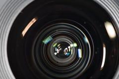 Primo piano dell'obiettivo Fotografie Stock