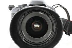 Primo piano dell'obiettivo di zoom grandangolare sulla macchina fotografica Fotografie Stock Libere da Diritti