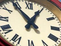Primo piano dell'orologio Fotografia Stock