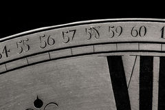 Primo piano dell'orologio Immagini Stock