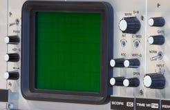 Primo piano dell'oscilloscopio Fotografia Stock