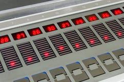 Primo piano dell'unità di controllo di chiave della fontana della stampa Fotografia Stock