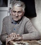 Primo piano dell'uomo anziano Fotografie Stock Libere da Diritti