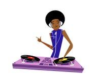 Primo piano dell'uomo che gioca il DJ illustrazione di stock