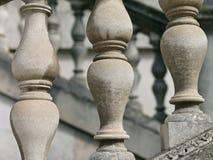 Primo piano della balaustra italiana di Palladian di stile fotografia stock