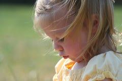 Primo piano della bambina Fotografia Stock