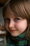 Primo piano della bambina piacevole Fotografia Stock