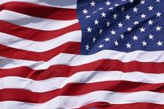 Primo piano della bandiera americana Immagini Stock