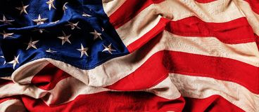 Primo piano della bandiera di U.S.A. nella progettazione di lerciume Fotografie Stock Libere da Diritti