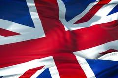 Primo piano della bandiera di Union Jack, bandiera dell'Inghilterra britannica, Regno Unito fotografia stock