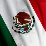 Primo piano della bandierina messicana Fotografie Stock Libere da Diritti