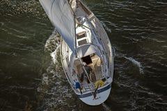 Primo piano della barca a vela Immagini Stock
