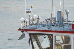 Primo piano della cabina della barca Immagine Stock Libera da Diritti