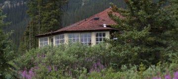 Primo piano della cabina della montagna Immagine Stock Libera da Diritti