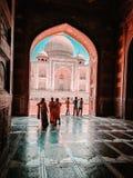 Primo piano della carta da parati di Taj Mahal fotografie stock libere da diritti