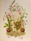 Primo piano della cartolina dell'annata Fotografia Stock