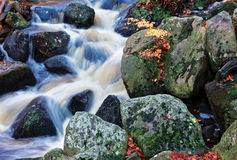 Primo piano della cascata di autunno Fotografia Stock Libera da Diritti