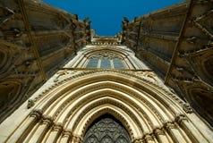 Primo piano della cattedrale di York, York, Inghilterra fotografia stock libera da diritti