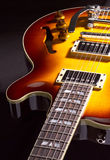 Primo piano della chitarra Fotografia Stock