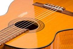Primo piano della chitarra Fotografie Stock