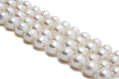 Primo piano della collana della perla Immagine Stock Libera da Diritti