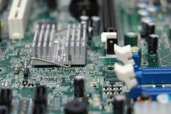 Primo piano della componente della scheda madre del computer Fotografia Stock