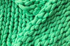 Primo piano della coperta tricottata Immagini Stock