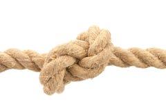 Primo piano della corda con il nodo Immagine Stock Libera da Diritti