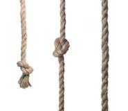 Primo piano della corda con il nodo fotografia stock