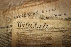 Primo piano della costituzione degli Stati Uniti Fotografia Stock Libera da Diritti
