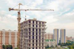 Primo piano della costruzione della città Fotografie Stock