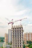 Primo piano della costruzione della città Immagine Stock