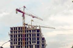 Primo piano della costruzione della città Fotografie Stock Libere da Diritti