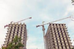 Primo piano della costruzione della città Immagini Stock Libere da Diritti