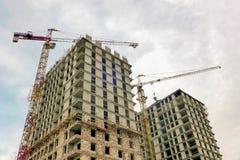 Primo piano della costruzione della città Immagine Stock Libera da Diritti