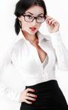 Primo piano della donna sexy di affari Immagine Stock Libera da Diritti