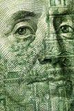 Primo piano della fattura del dollaro 100 Fotografia Stock Libera da Diritti