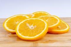 Primo piano della fetta arancio della frutta Fotografie Stock