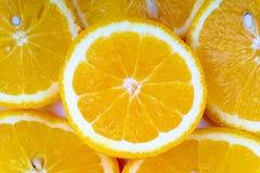 Primo piano della fetta arancio della frutta Immagini Stock