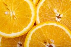 Primo piano della fetta arancio della frutta Fotografia Stock Libera da Diritti