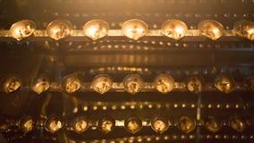 Primo piano della fiamma di candela Molte candele in un tempio buddista Religi Fotografia Stock Libera da Diritti