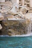 Primo piano della fontana di Trevi Fotografia Stock Libera da Diritti