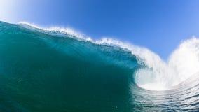 Primo piano della foto dell'acqua di Wave di oceano immagine stock libera da diritti