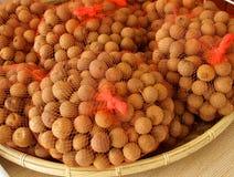 Primo piano della frutta del longan secco dolce Fotografia Stock